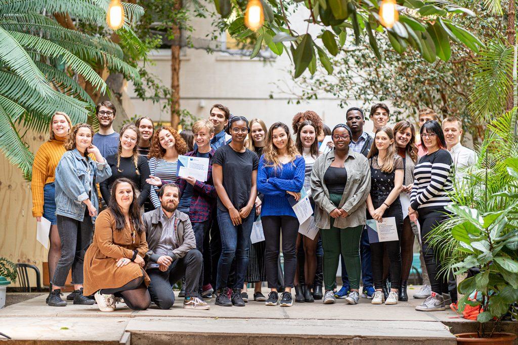 Des étudiants du Collège de Maisonneuve honorés lors du Gala de l'engagement et de la réussite 2019. Photographie : Paul-Louis Mas
